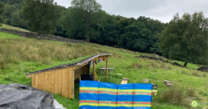 Ben's living roof with Hebden X Grids against the landscape