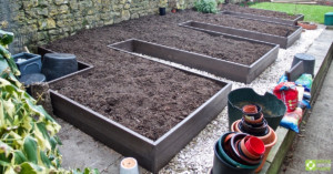 Andrew's completed beds prior to planting