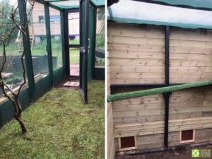 Gower Bird Hospital used our recycled plastic lumber to construct the frames for their aviaries
