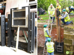 Newtown Top lock paddles. - paddle construction and installation