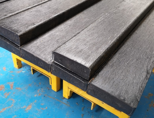 Recycled plastic lumber planks for repairs