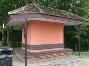 Sibsey bus shelter refurbished with recycled plastic lumber planks