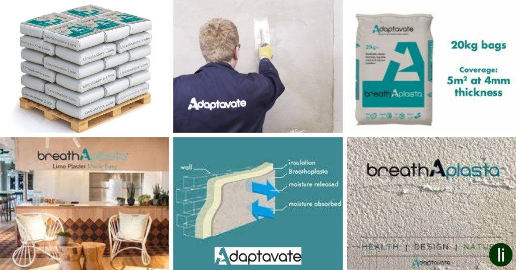 Breathaplasta, breathable plaster from Adaptavate