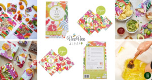 Beebee & Leaf's organic cotton wax food wraps