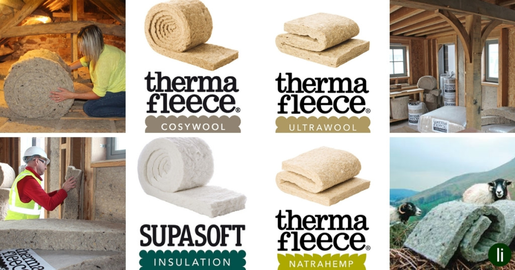 Thermafleece sustainable insulation made from either recycled plastic, sheepswool or hemp