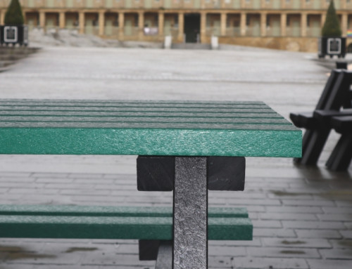Picnic Tables at the Piece Hall