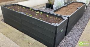 British Recycled Plastic raised beds - corner view