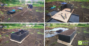 Easy-assembly raised bed kits engineered from British Recycled Plastic
