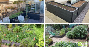 Selection of established raised bed kits engineered from British Recycled Plastic