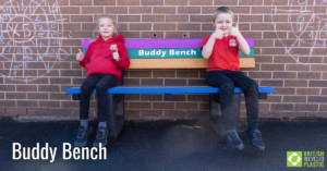 Buddy Bench engineered from British Recycled Plastic