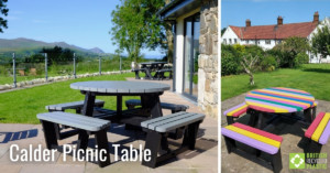 Calder Picnic Table engineered from British Recycled Plastic