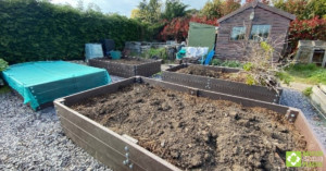 Customer raised bed project using British Recycled Plastic - finished bed