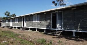 Home built from plastic bricks, developed by Conceptos Plasticos