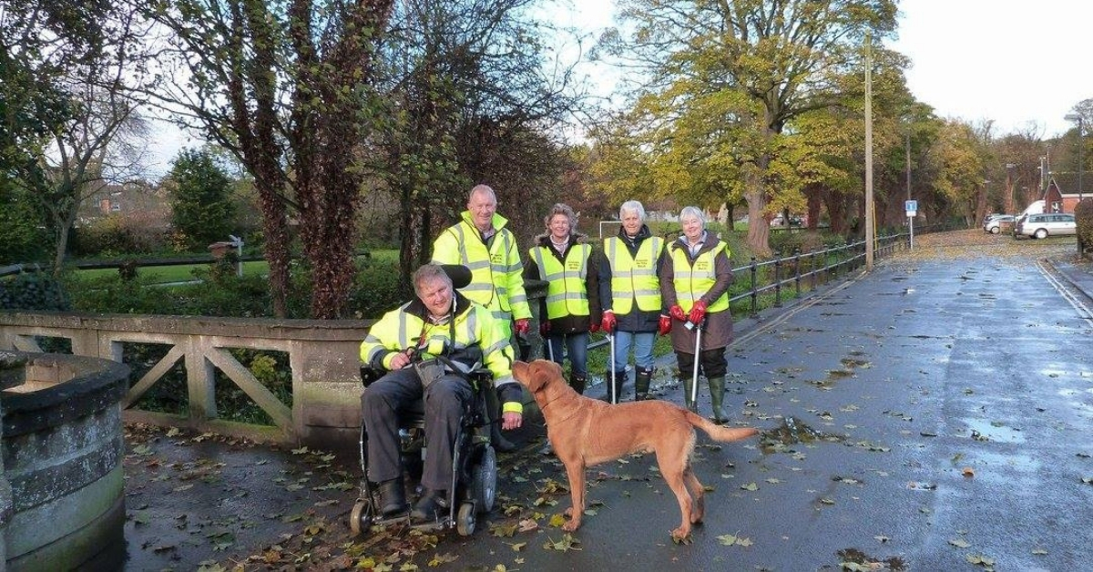 Friends of the Beck and honorary member, Red the assistance dog