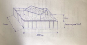 Plans for the planter to be built from British Recycled Plastic