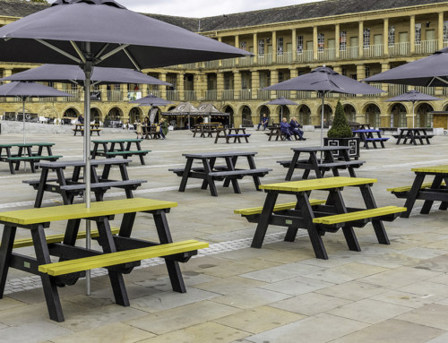 Buy 4 Get 5 on A-frame picnic tables
